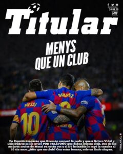 01 arturo vidal luis suarez barcelona messi koeman club diario titular tapa portada 2
